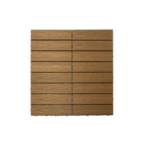 kontiki interlocking deck tiles composite quickdeck series teak naturale 12 quot x12 quot