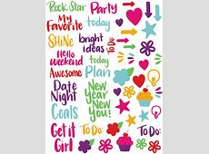 Hand Lettered Planner Stickers Print & Cut Liz on Call