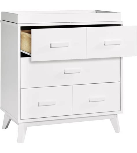 babyletto scoot 3 drawer changer dresser white