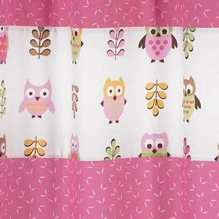 sweet jojo designs owl pink collection shower curtain