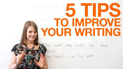 5 Tips To Improve Your Writing Doovi