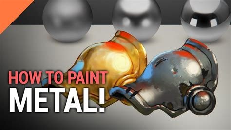How To Paint Metal! In Photoshop  Youtube