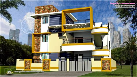 3 Floor Home Design : Modern 3 Floor Tamilnadu House Design