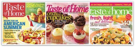 Taste Of Home : Rare! Taste Of Home Magazine For Only $6.25 Per Year