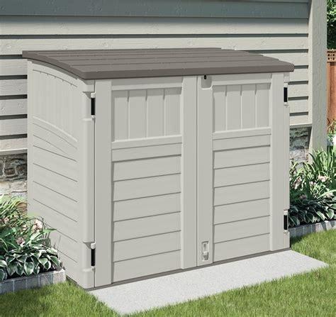 suncast bms2500 horizontal storage shed 2 ft 8 1 4 l x 4
