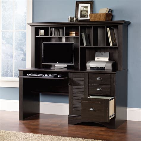 harbor view computer desk with hutch 401634 sauder