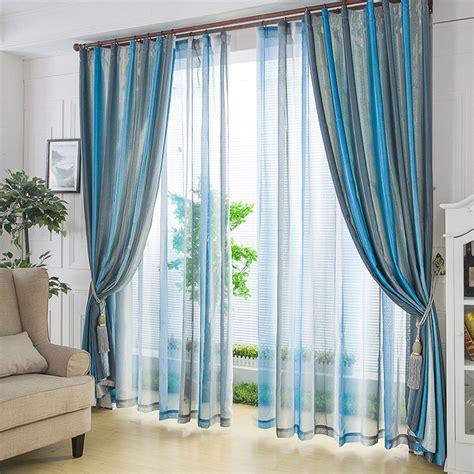 rideaux et voilages fins 224 rayure originaux couleur bleu blanc et gris le march 233 du rideau