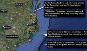 German U Boats Off Coast Florida by Civil War And World War Ii Shipwrecks Are Being Analysed