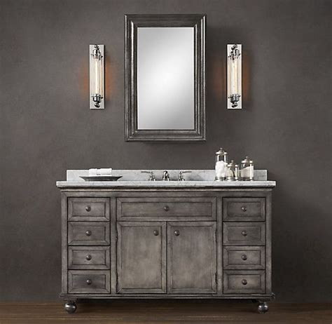 zinc vanity restoration hardware bathroom oasis