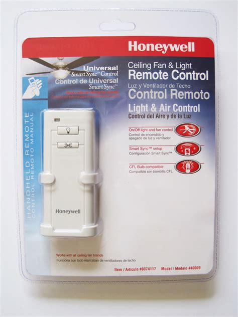 honeywell ceiling fan light handheld universal remote