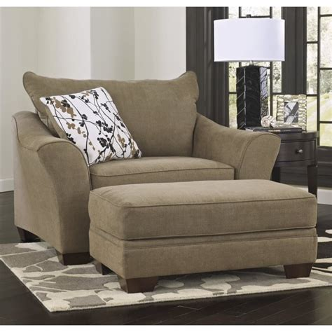 mykla fabric oversized chair with ottoman in shitake 96701 23 14 pkg