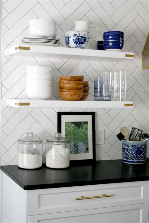 What To Put On Open Kitchen Shelves {video}  Emily A Clark