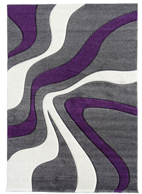tapis vagues violet de la collection unamourdetapis