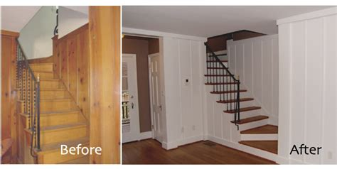 Painted Wood Paneling, Beforeafter  B B