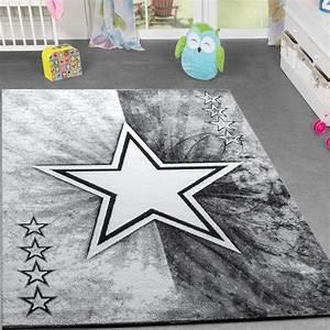 Teppich Kinderzimmer Grau : kinder teppich jugend teppich modern stern design kinderzimmer teppich in grau kinderteppich ~ Markanthonyermac.com Haus und Dekorationen