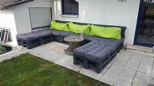 Lounge Polster Selber Machen : riesige und wetterfeste gartenlounge aus 13 europaletten und passenden palettenkissen ~ Markanthonyermac.com Haus und Dekorationen