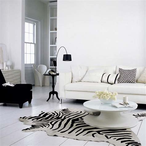 white living room design with black chair and l also