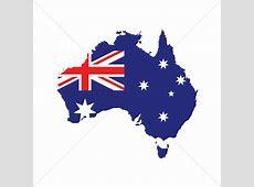 Australia flag on map Vector Image 1961259 StockUnlimited