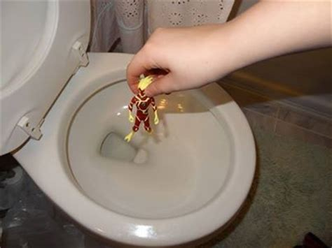 accidents happen flushing something the toilet and then plunging it can make it much