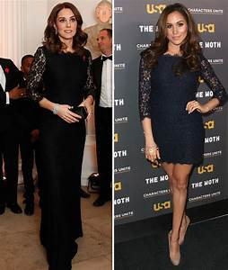 Kate Middleton COPIES Meghan Markle in black lace dress at ...