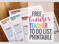 Teacher Planning Weekly To Do List KindergartenWorks