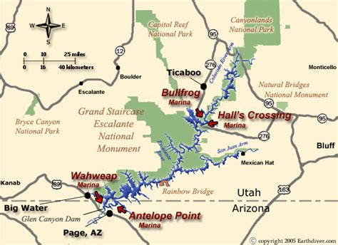 East Canyon Lake Boat Rentals by Lake Powell Houseboat And Vacation Map For Utah And