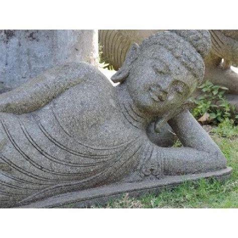statue bouddha allong 233 en volcanique 1m50 achat vente decoration de jardin pas cher