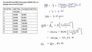 Find the NPV and PBP of a business investment for project ...