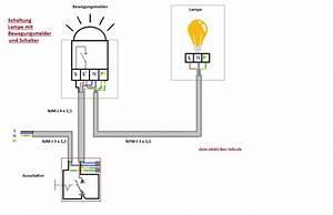 Lampe Mit Bewegungsmelder Und Schalter : lampe mit bewegungsmelder anschlie en clevere elektroinstallation und haustechnik ~ Markanthonyermac.com Haus und Dekorationen