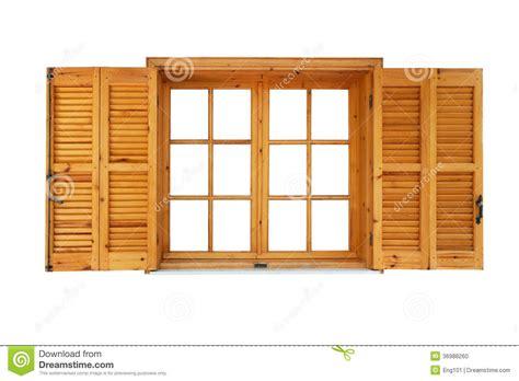 fen 234 tre en bois avec des volets ouverts photo stock image 36988260
