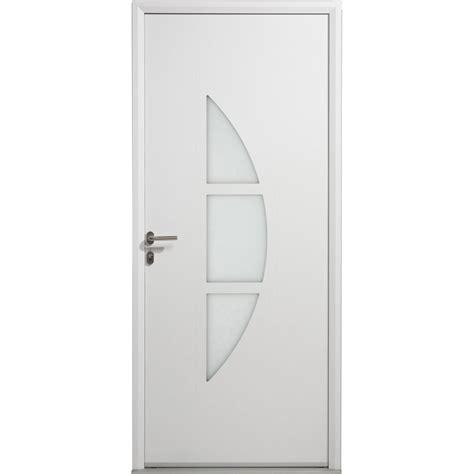 porte d entr 233 e aluminium omaha artens poussant gauche h 215 x l 80 cm leroy merlin
