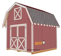 10x12 storage shed plans shed plans 10x12 gambrel shed construct101