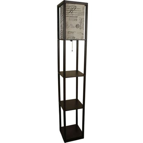mainstays shelf floor l with script shade brown walmart