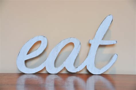 eat wood sign words home decor kitchen