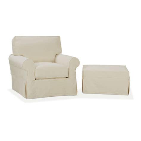 nantucket slip cover suite arm chair and ottoman wayfair