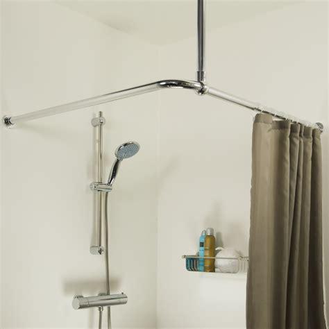 sealskin seallux support plafond pour barre de d angle 60cm chrome 276668618