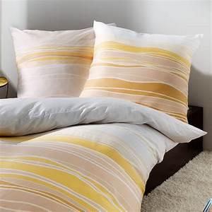 Bettwäsche 155x220 Beige : kaeppel mako satin bettw sche 155x220 cm la ola 60224 gold beige ocker ~ Markanthonyermac.com Haus und Dekorationen