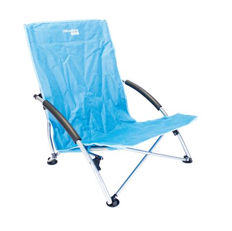 low profile folding cing chair 66 x 55 5 x 65cm blue