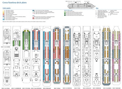 20 of the seas cabins pacific deck plans diagrams pictures croisi 232