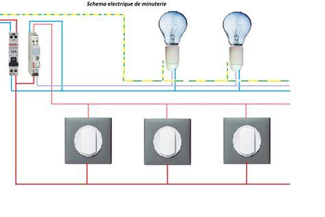 electricit 233 schema electrique minuterie branchement 4 fils