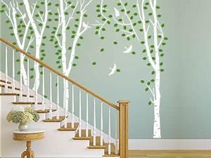 Wandgestaltung Treppenhaus Einfamilienhaus : wandtattoo im treppenhaus auf treppe wand co ~ Markanthonyermac.com Haus und Dekorationen