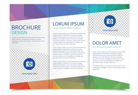 Brochute Template Free Download by Tri Fold Brochure Vector Template Download Free Vector