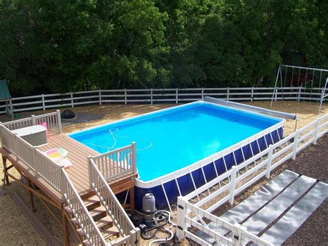 swimming pool deck ideas for portable pools and above ground pools above ground pools industries