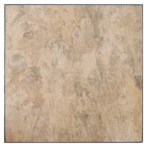 shop novalis home fashion 10 almond slate peel and stick vinyl tile at lowes