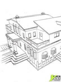 coloriage villa
