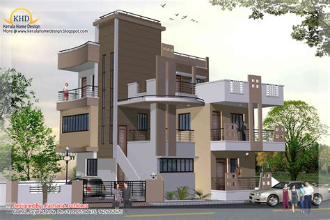 3 Floor Home Design : 3 Story House Plan And Elevation