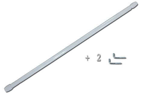tringle 192 vitrage plate blanche extensible 2 gonds 192 vis ebay