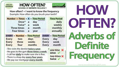 How Often?  Adverbs Of Definite Frequency Youtube