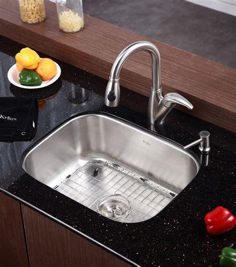 kraus kbu12 23 inch undermount single bowl stainless steel sink with 9 inch bowl depth 16