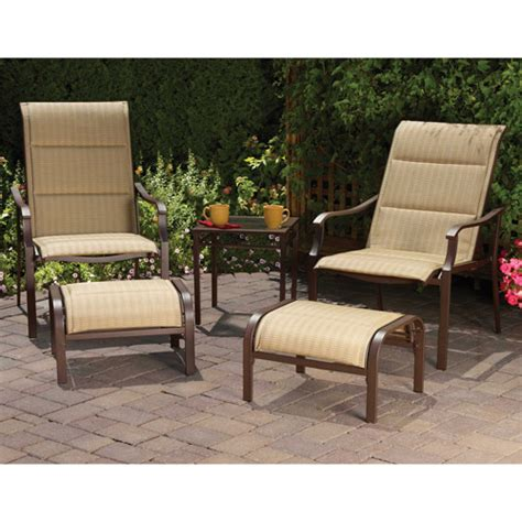 mainstays padded sling 5 outdoor leisure set dune seats 2 walmart